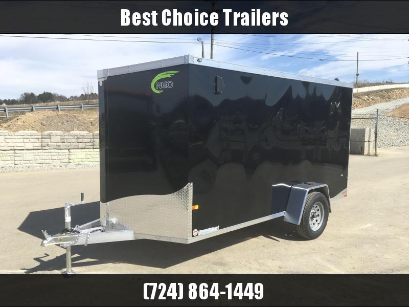 2018 Neo 6x12 NAVF Aluminum Enclosed Cargo Trailer * RAMP DOOR * BLACK
