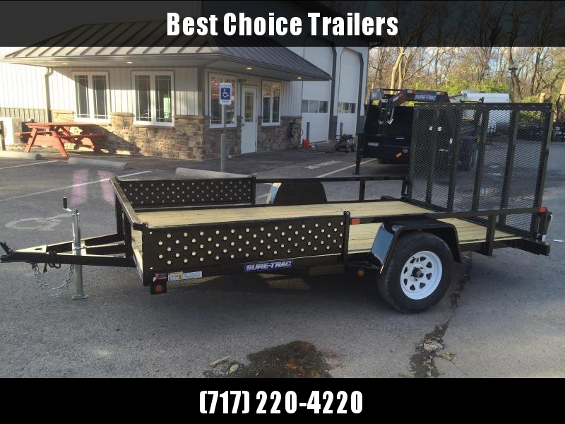 2018 Sure-Trac 7x12' Tube Top ATV Side Ramps Utility Trailer 2990# GVW * CLEARANCE - FREE ALUMINUM WHEELS