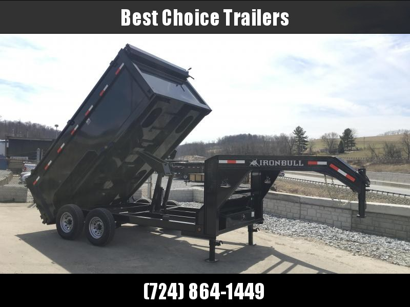 2018 Iron Bull 7x14' Gooseneck Dump Trailer 14000# GVW - 4' HIGH SIDES * CLEARANCE