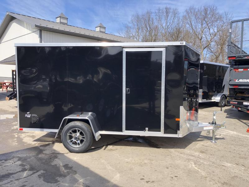 2020 Neo 6x12' NAVF Aluminum Enclosed Cargo Trailer * RAMP DOOR * BLACK * ALUMINUM WHEELS