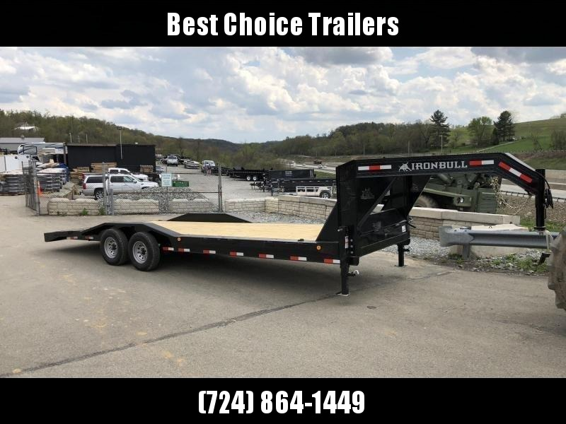 "2019 Ironbull 102x24' Gooseneck Car Hauler Equipment Trailer 14000# GVW * 102"" Deck * Drive Over Fenders * Spare Tire"