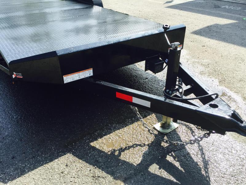 2018 Sure-Trac 7x18 9900# Steel Deck Car Trailer Low Profile/Low Angle DROP LEG JACK * CLEARANCE