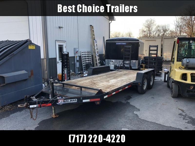 USED 2015 B-Wise 7x18' 9990# GVW Equipment Trailer