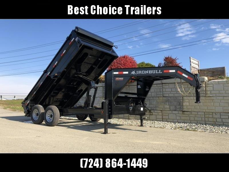 2019 Iron Bull 7x14' Gooseneck Dump Trailer 14000# GVW