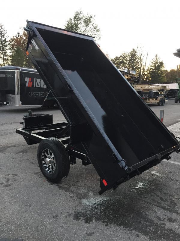 2018 Lamar 5x10' DS60 Dump Trailer 7000# GVW - SINGLE AXLE * TARP KIT * RAMPS * SPARE MOUNT * CHARCOAL