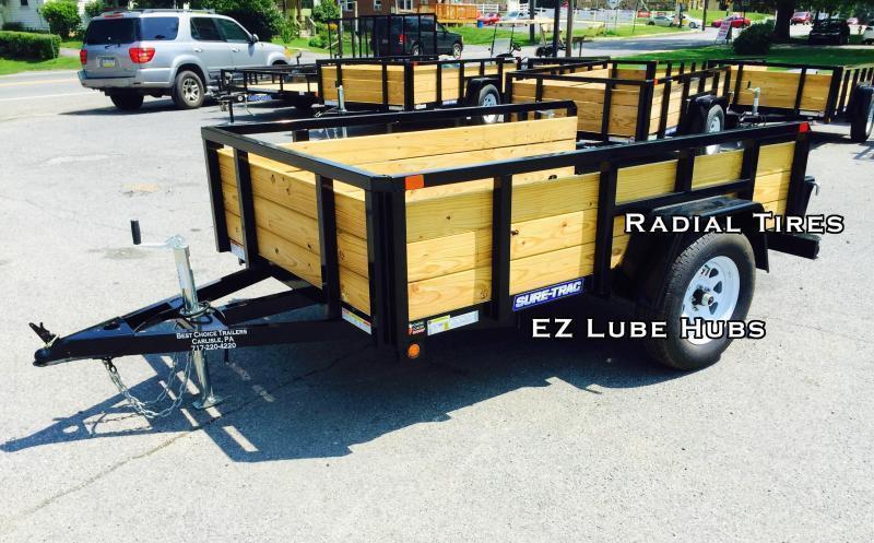 2019 Sure-Trac 5x8 3-Board High Side Tube Top Utility Trailer 2990# GVW