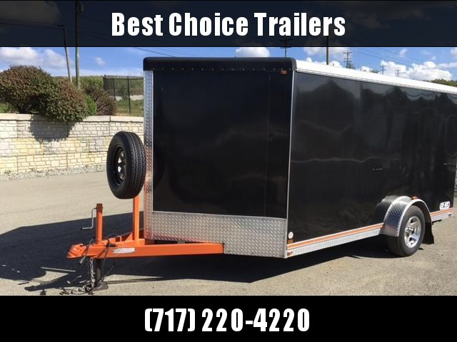 USED Car Mate 7x12' Enclosed Cargo Trailer Motorcycle Trailer * FINISHED INTERIOR * SPARE TIRE * TORSION * BRAKES * SCREWLESS