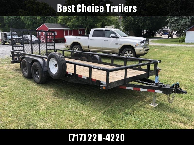 2019 Big Tex 7x18' 9990# Commercial Utility Landscape Trailer * HD GATE * SPARE TIRE * DROP LEG JACK * ADJUSTABLE COUPLER * PIPE TOP