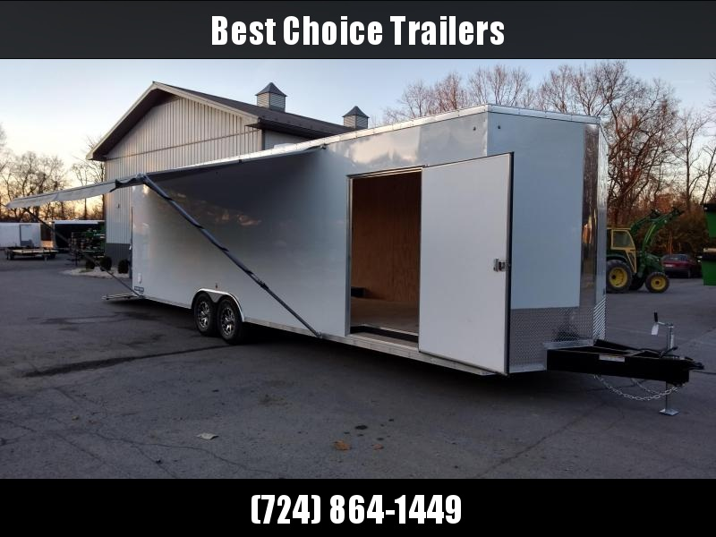 "2018 Sure-Trac 8.5x30' 9900# STWCH Commercial Enclosed Cargo Trailer EXTRAS * +12"" HEIGHT * 16"" RUBBER ON ALUMINUM * 2"" FRAME LIFT * BOGEY WHEELS * 110V PACKAGE * A/C W HEAT * AWNING"