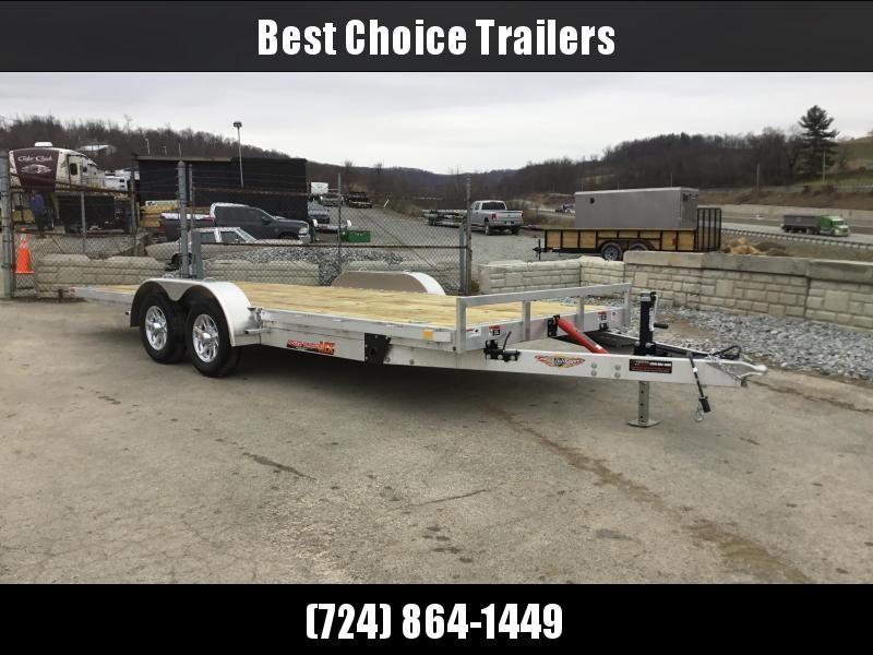 2018 H&H 7x20' Aluminum Manual Tilt Car Trailer 7000# GVW * TOOLBOX * SPARE MT * CLEARANCE