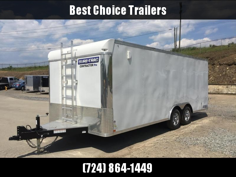 2017 Sure-Trac 8.5x20 Contractor Pro Enclosed Cargo Trailer 9900# GVW * TOOLCRIB UPGRADE