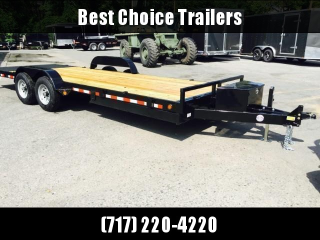 2019 QSA 7x18' 9850# GVW Power Tilt Equipment Trailer