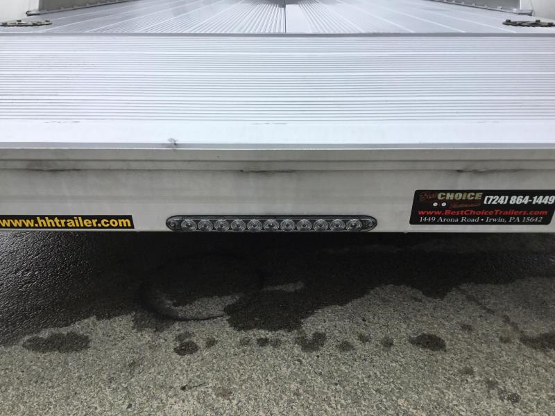 2018 H&H 7x20' Aluminum Car Trailer 9990# GVW - EXTRUDED ALUMINUM FLOOR