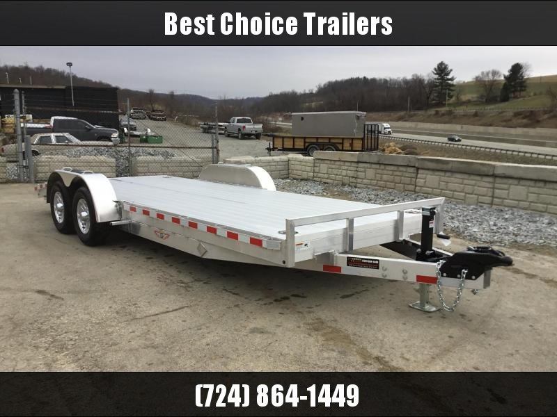 2018 H&H 7x20' Aluminum Car Trailer 9990# GVW - EXTRUDED ALUMINUM FLOOR