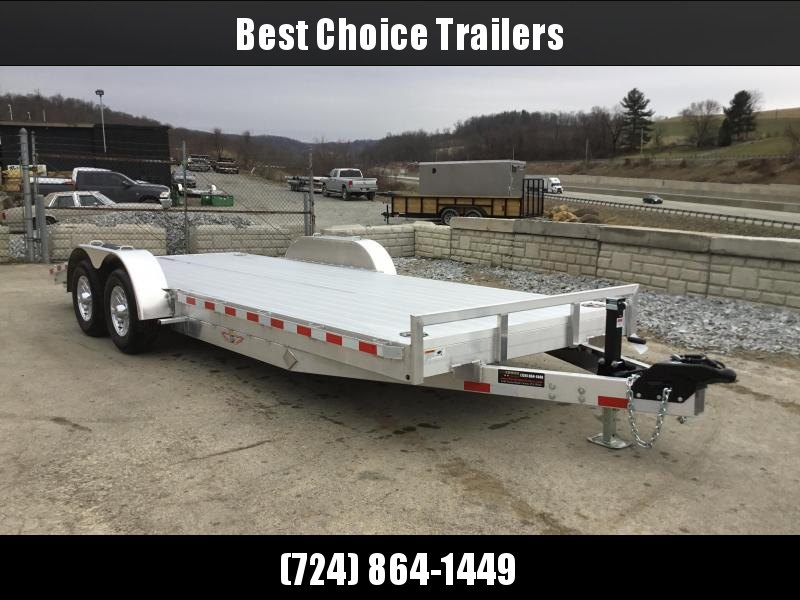 2018 H&H 7x20' Aluminum Car Trailer 9990# GVW * LOADED * EXTRUDED ALUMINUM FLOOR * TORSION DROP AXLES * SWIVEL D-RINGS * EXTRA STAKE POCKETS * CLEARANCE