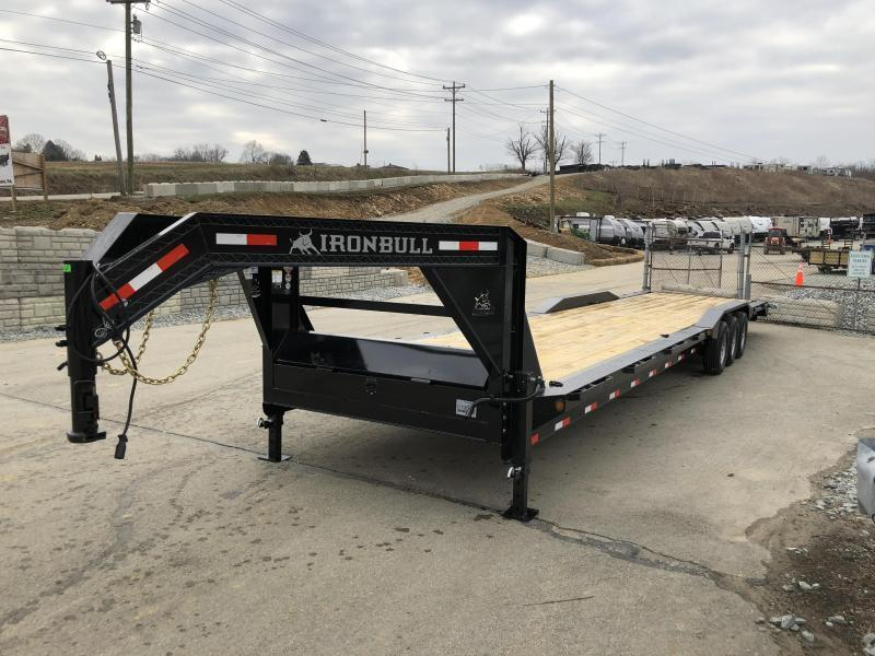 "2018 Ironbull 102x36' Gooseneck Car Hauler Equipment Trailer 21000# * 102"" DECK * DRIVE OVER FENDERS * 4' DOVETAIL"