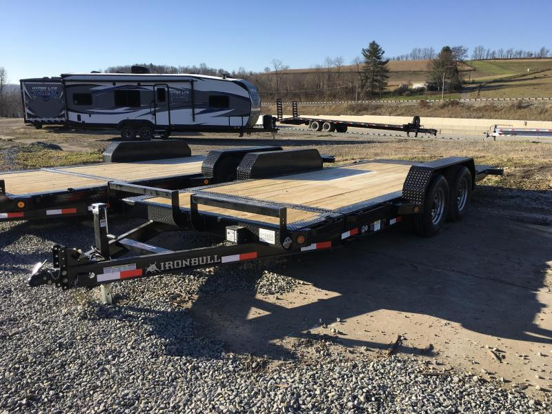 2018 Iron Bull 7x16+2' Tilt Equipment Trailer 9990# GVW - STOP VALVE TORSION AXLES