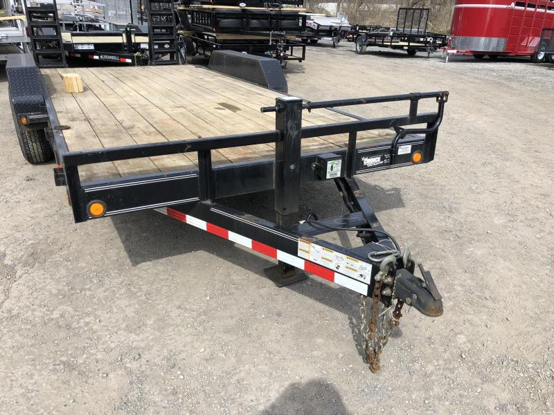 USED 2014 Load Trail 7x18' Equipment Trailer 14000# GVW * STAND UP RAMPS * D-RINGS * DEXTER'S
