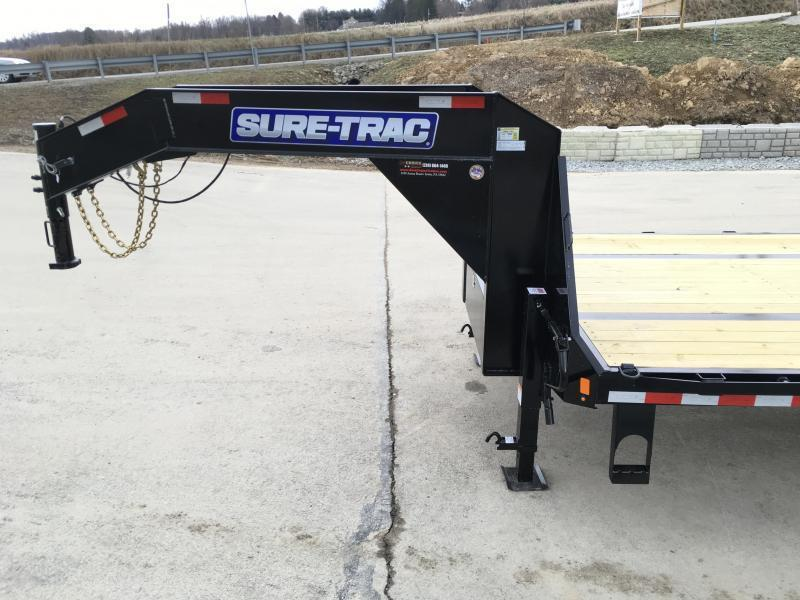 2019 Sure-Trac 102x40 22K Gooseneck HOTSHOT Deckover Trailer PIERCED FRAME * SLIDE IN RAMPS * CLEARANCE