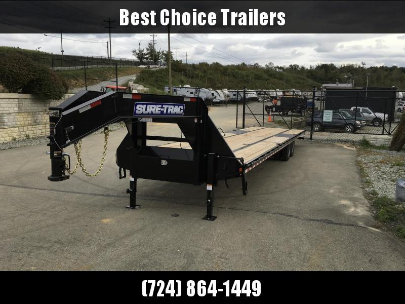2018 Sure-Trac 102x40 22K Gooseneck HOTSHOT Deckover Trailer PIERCED FRAME * SLIDE IN RAMPS