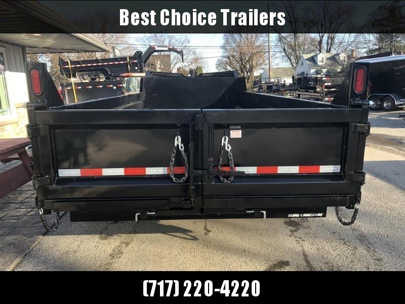 2019 Sure-Trac 7x14' 16000# Low Profile HD GOOSENECK Dump Trailer * TELESCOPIC HOIST * 8000# AXLE UPGRADE