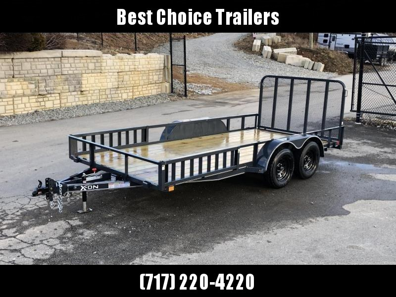 2019 X-On 7x16' Utility Landscape Trailer 7000# GVW * ATV RAMPS * CHARCOAL