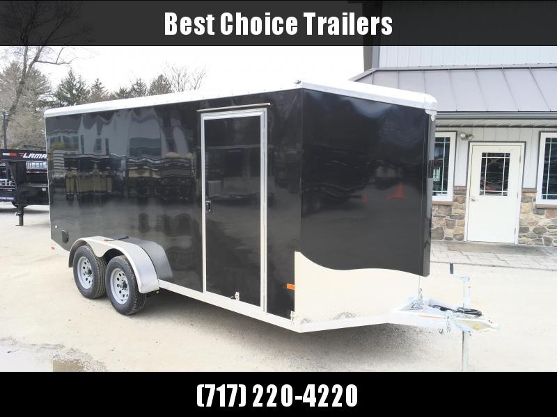 "2018 Neo 7x16 NAVR Aluminum Enclosed Cargo Trailer * RAMP DOOR * BLACK * 6'6"" HEIGHT * PRO STAB JACKS"