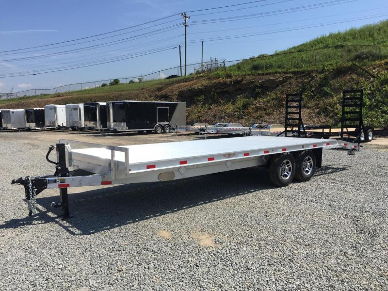 2017 H&H 102x18+4 14000# Aluminum Deckover Equipment Trailer STAND UP RAMPS EXTRUDED ALUMINUM FLOOR TORSION AXLES