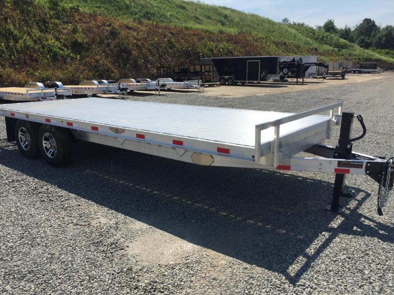 2017 H&H 102x18+4 14000# Aluminum Deckover Equipment Trailer STAND UP RAMPS EXTRUDED ALUMINUM FLOOR TORSION AXLES