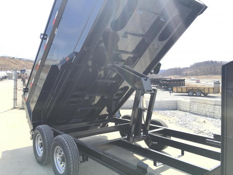 2018 Iron Bull 7x16' Gooseneck Dump Trailer 14000# GVW - 4' HIGH SIDES * CLEARANCE