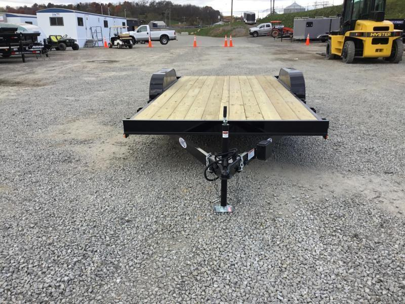2018 AMO 7x18' Wood Deck Car Trailer 7000# GVW * FREE SPARE TIRE * CLEARANCE