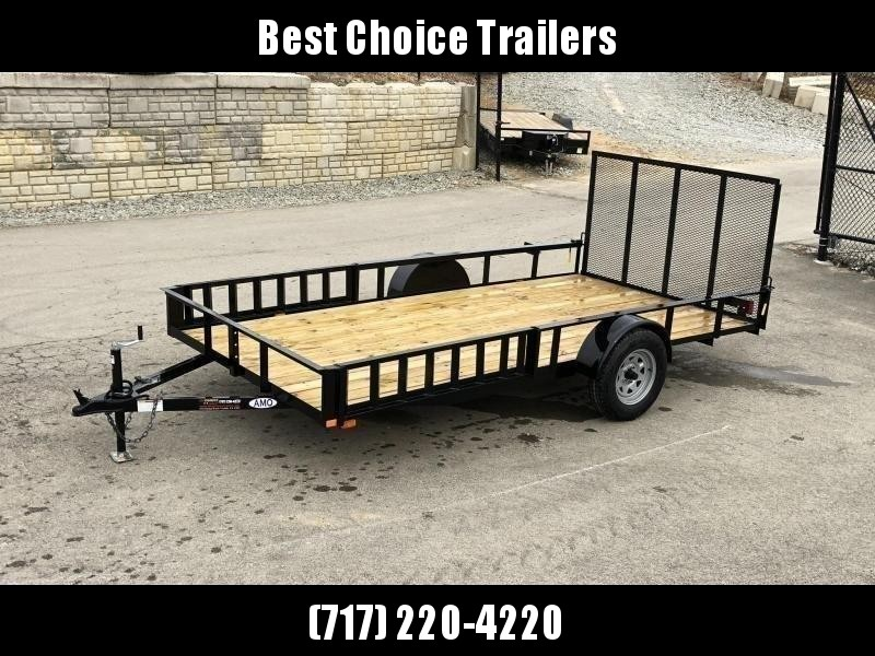 2019 AMO 7x12' Angle Iron Utility Landscape Trailer 2990# GVW w/ Gate * ATV RAMPS * FULL WRAP TONGUE * ALL LED LIGHTS