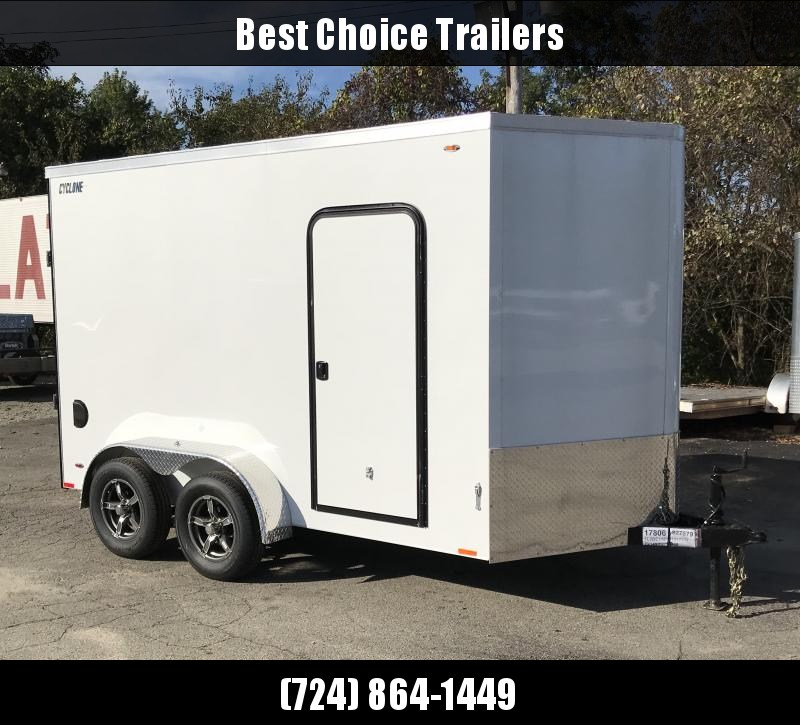 2019 Legend 7x14' UTV Package Enclosed Cargo Trailer 7000# GVW STV7X14TA35 * WHITE * V-NOSE * RAMP DOOR * SCREWLESS * 7' HEIGHT * ALUMINUM WHEELS * STAINLESS HARDWARE