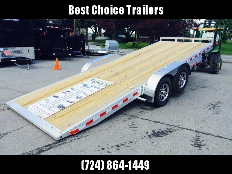 2019 H&H 7x20' Aluminum Power Tilt Car Trailer 9990# GVW * 2 TOOLBOXES * SPARE MOUNT