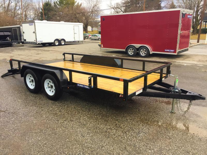2020 Sure-Trac 7x18' Tube Top Utility Landscape Trailer 7000# GVW