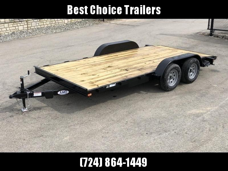 2019 AMO 7x16' Wood Deck Car Trailer 7000# GVW * LED TAIL LIGHTS in Ashburn, VA