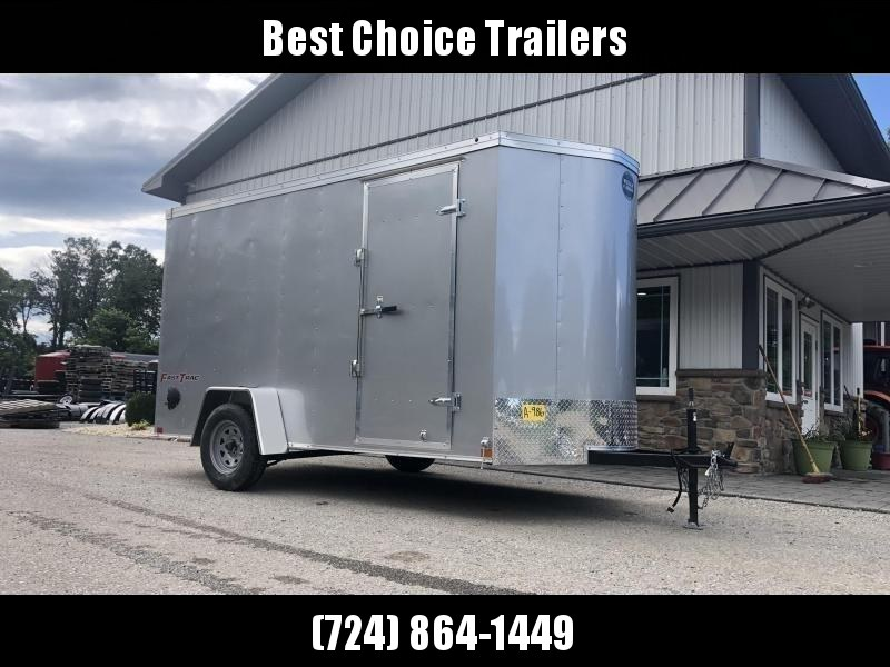 "2019 Wells Cargo 6x12' Fastrac DELUXE Enclosed Cargo Trailer 2990# GVW * PEWTER EXTERIOR * RAMP DOOR * .030 EXTERIOR * 1PC ALUM ROOF * 6'6"" HEIGHT * TUBE STUDS * 16"" O.C WALLS"