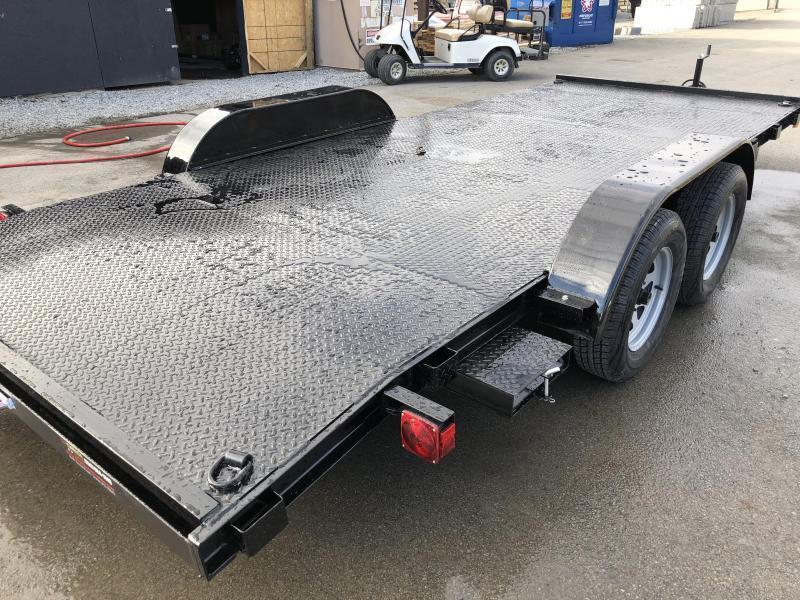 2018 AMO 7x16' Steel Deck Car Trailer 7000# GVW * CLEARANCE