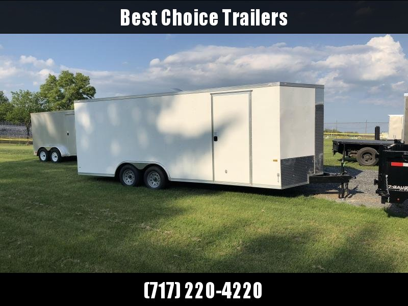 2018 Rock Solid 8.5x20' Enclosed Car Trailer 7000# GVW * WHITE * CLEARANCE - FREE ALUMINUM WHEELS