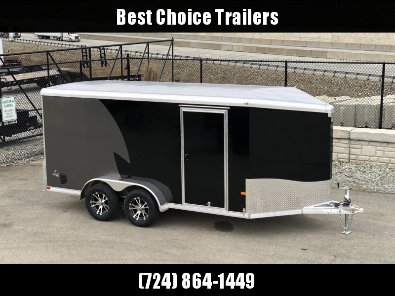 2020 NEO Trailers 7X14' NAMR Aluminum Enclosed Motorcycle Trailer * BLACK * CHARCOAL * VINYL WALLS * ALUMINUM WHEELS