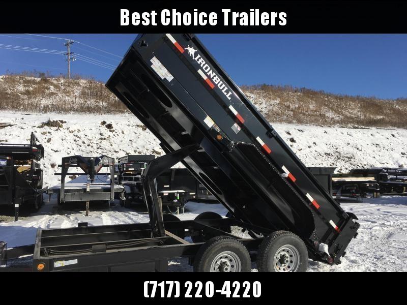2019 Iron Bull 7x16' Dump Trailer 14000# GVW RAMPS * TARP * SCISSOR * SPARE MOUNT * CLEARANCE - FREE ALUMINUM WHEELS