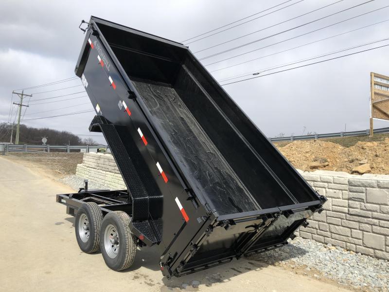 2019 Ironbull 7x16' 4' HIGH SIDES Dump Trailer 14000# GVW RAMPS * TARP * SCISSOR