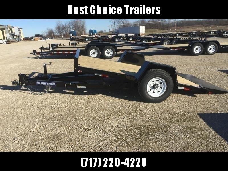 "2020 Sure-Trac 78""x12' 7000# GVW Tilt Equipment Trailer Scissor Hauler * OAK DECK"