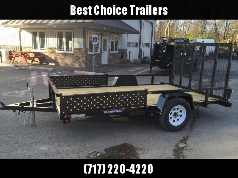 2018 Sure-Trac 7x12' Tube Top ATV Side Ramps Utility Trailer 2990# GVW