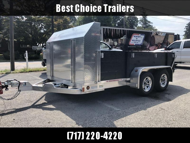 USED 2013 Worthington 7x12' Aluminum Utility Landscape Trailer 5000# GVW * ALUMINUM WHEELS * DEXTER TORSION * HD BI FOLD GATE * SPARE TIRE * ROCK GUARD