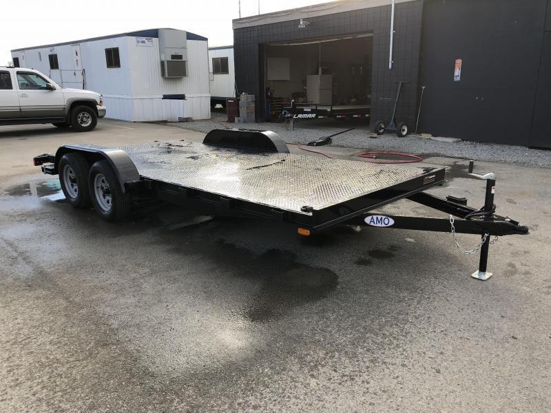 2019 AMO 7x16' Steel Deck Car Trailer 7000# GVW