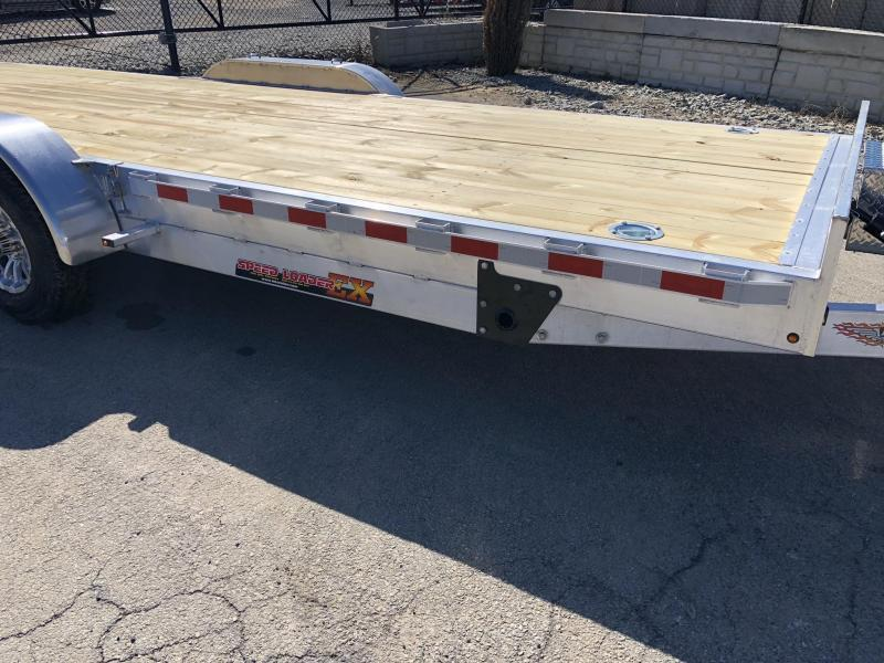 "2020 H&H 7x22' Aluminum Power Tilt Equipment Trailer 14000# GVW * 4 SWIVEL D-RINGS * 4 EXTRA STAKE POCKETS * TOOLBOX * ALUMINUM WHEELS * HEAVY DUTY 8"" FRAME * REMOVABLE FENDERS"