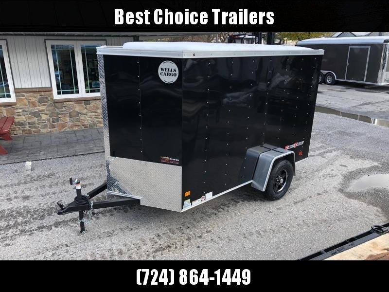 2019 Wells Cargo 6x10' Fastrac Enclosed Cargo Trailer 2990# GVW * BLACK EXTERIOR * RAMP DOOR * ALUMINUM WHEELS