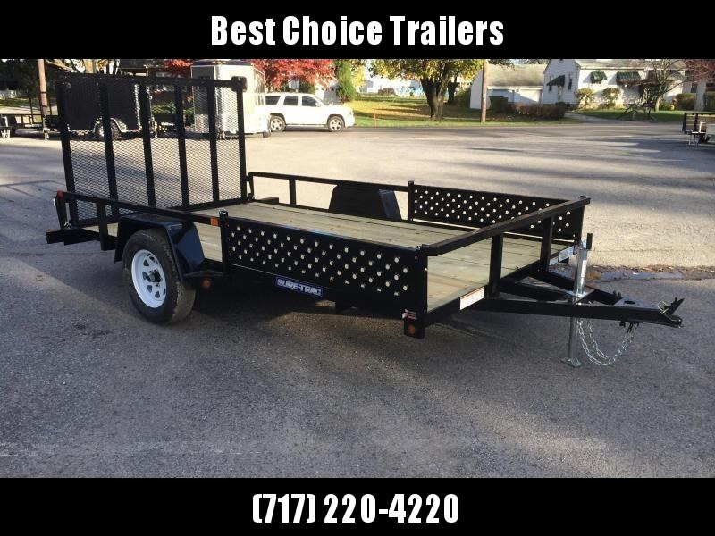 2019 Sure-Trac 7x14' Tube Top Utility Trailer 2990# GVW - ATV RAMPS