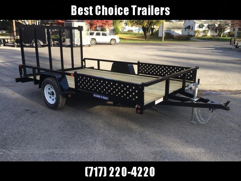 2019 Sure-Trac 7x14' Tube Top Utility Trailer 2990# GVW - ATV RAMPS